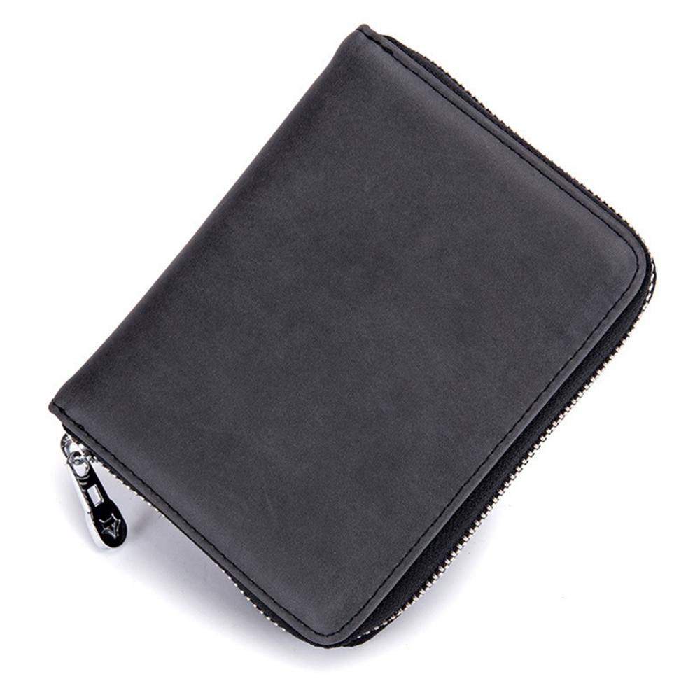 Black RFID Security Leather 15 Credit Card ID Business Holder Wallet U.S Seller