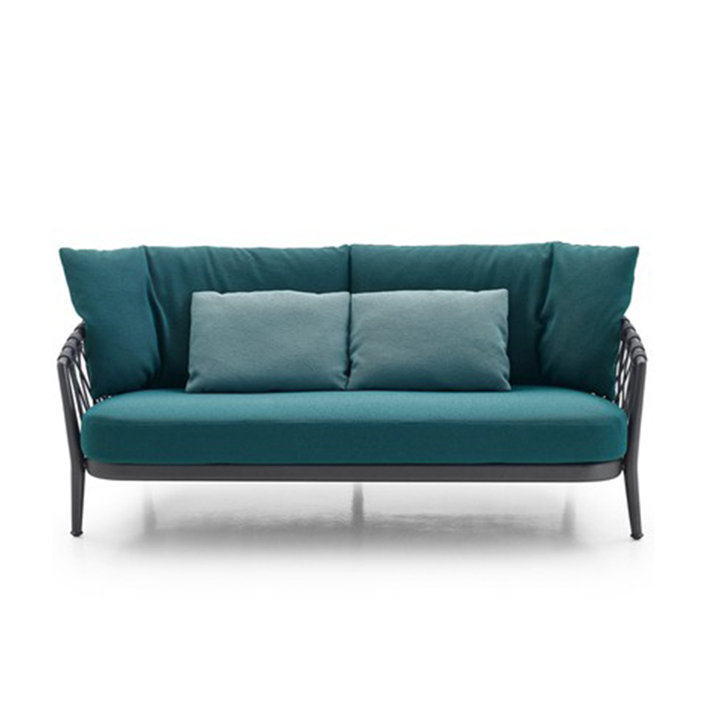 Новый дизайн, уличные плетеные комплекты мебели, веревочный плетеный диван для продажи