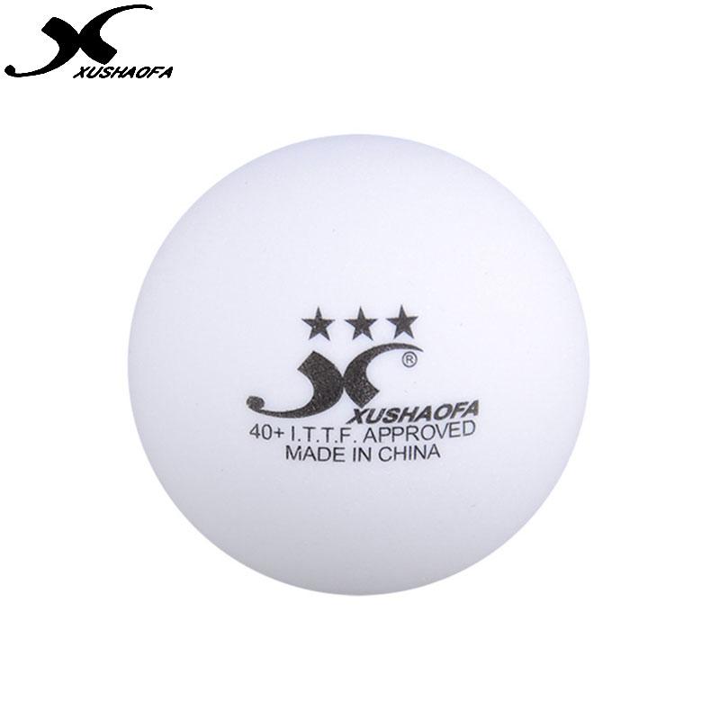 XUSHAOFA 3 star pingpong balls white ITTF 40+ seamed table tennis ball