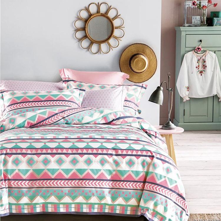 Хлопковое постельное белье KOSMOS с принтом, сделано в Китае, Комплект постельного белья с принтом