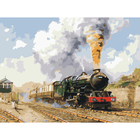 Diy Oil Painting Printer Start A Smoking Old Train Hand Painted Oil Painting Home Decor Figure Wall Pictures