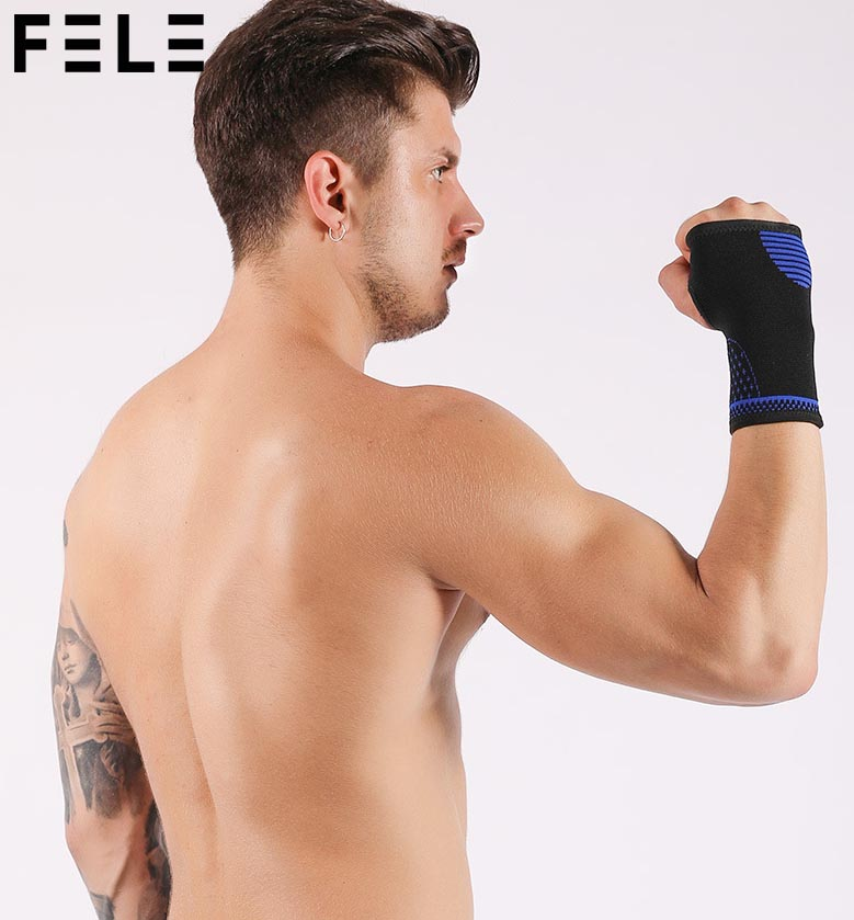 Factory Price Fitness Wrist Wraps Straps Gym Gloves Sports Wristband Wrist Brace Support Hand Bands FL01-303