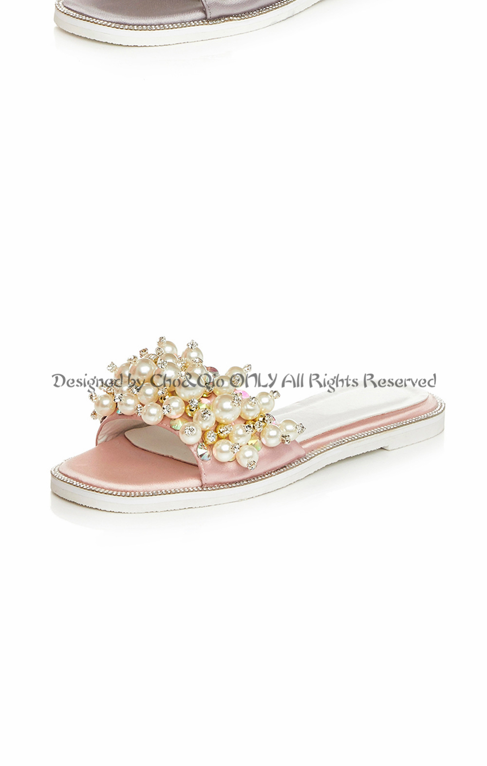 bd9a4d77841f Fashion Pure Handmade Paste Pearl Women Summer Slippers Ladies ...