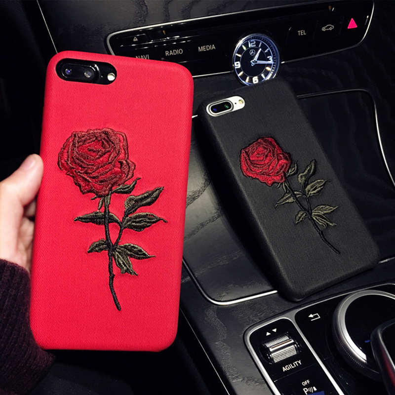 Getihu Embroidery Rose Case For Iphone 7 Plus Cover Capa Coque For Iphone 7 Case 360 Degree Protection For Iphone 7 7plus - Buy For Iphone 7 ...