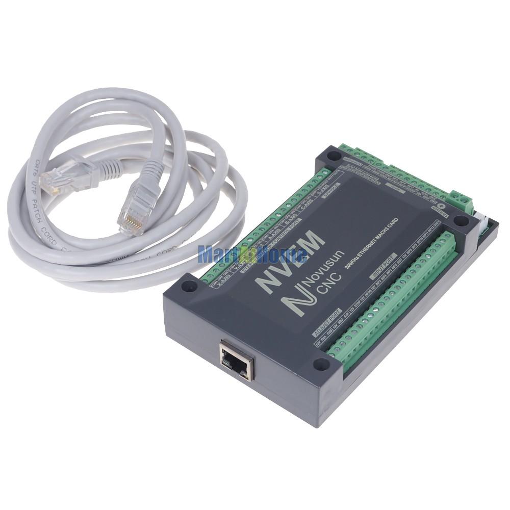 CNC 5 Aixs 200KHZ Ethernet MACH3 Motion Control Card for Servo Motor,  Stepper Motor #SM725 @SD