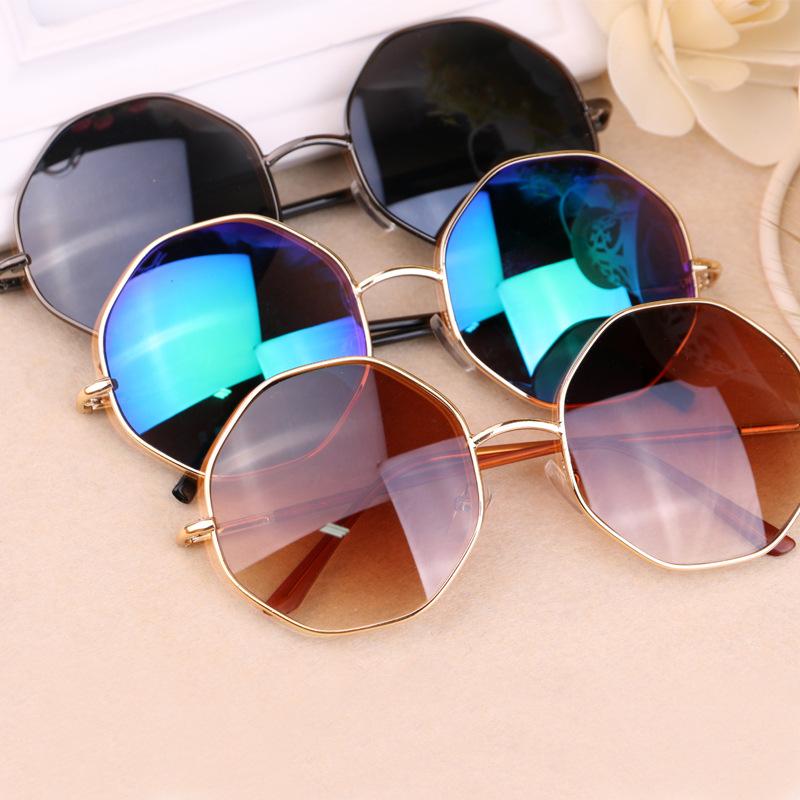 2015 new fashion sunglasses for men women classic hexagon color film retro sun glasses brand. Black Bedroom Furniture Sets. Home Design Ideas