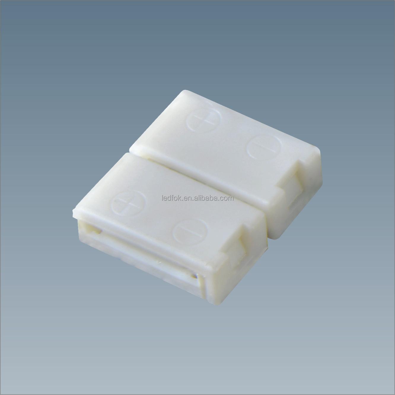 2-контактный разъем для светодиодной ленты 3528/5050, 8 мм, 10 мм