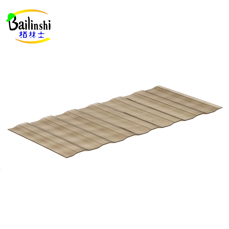 Hard Plastic Building Materials Corrugated Polycarbonate Sheet