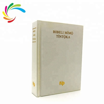 Free Sample Wholesale New Design Custom White Paper Book Study Bible Cover