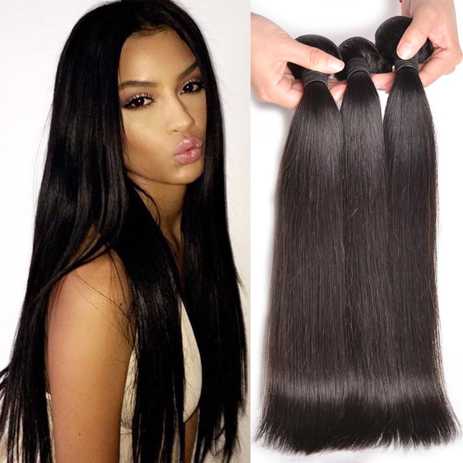 Peruvian Straight Hair 3 Bundles Peruvian Straight Virgin ...