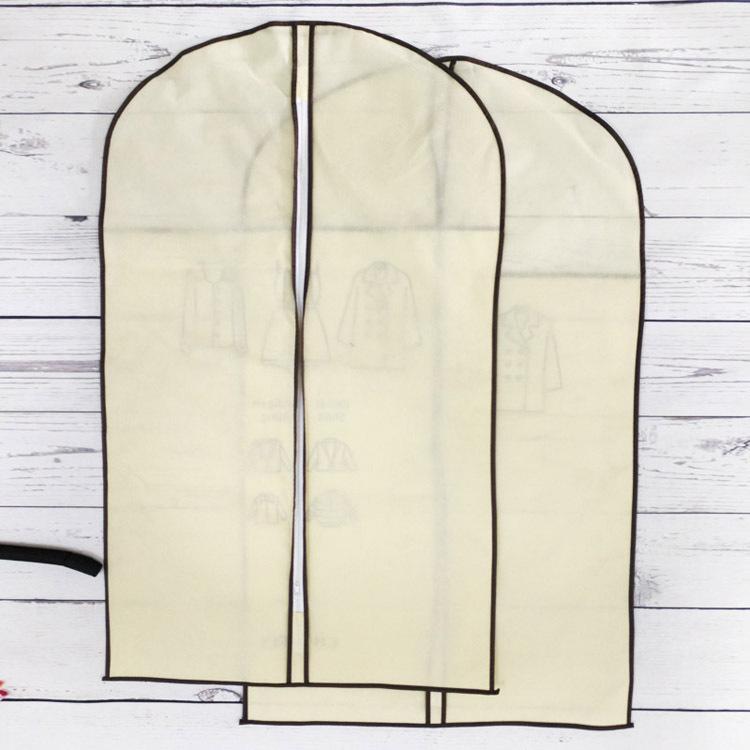 Фабричный экологически чистый складной пылезащитный прозрачный ПВХ окно нетканый костюм одежда упаковка для хранения одежды сумка для одежды на молнии