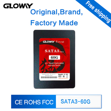 Gloway high quality ssd 60 g solid state hard drive sata3 2.5inch MLC Internal 60gb ssd hard drive ssd Disk /Free Shipping