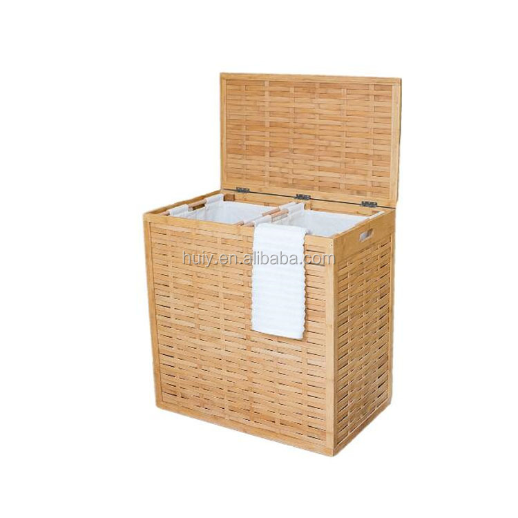 Home Luxury Design Bamboo Wood Clothes Laundry Hamper Basket Buy Laundry Basket Hamper Baskets Empty Wooden Laundry Basket Product On Alibaba Com