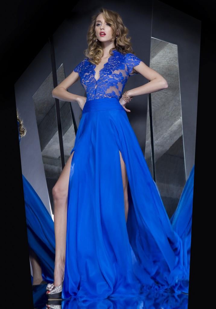 custom made royal blue long evening dresses women's summer ...