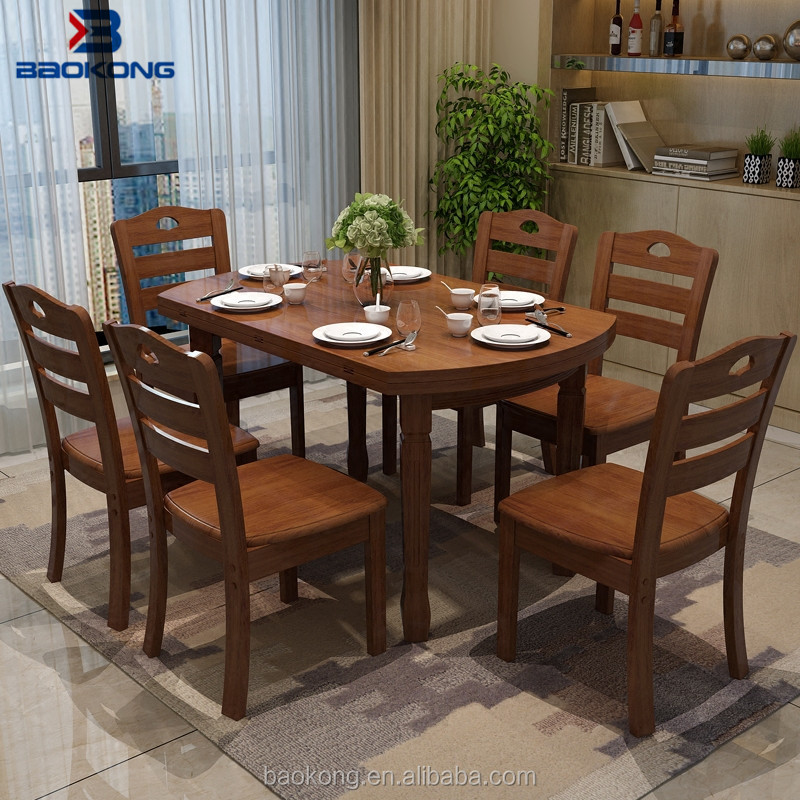Dining Table Set 6 Chairs Restaurant Wooden Furniture Buy Chairs And Tables 6 Seaters Wooden Dining Tables And Chairs Cheap Dining Room Sets Product On Alibaba Com