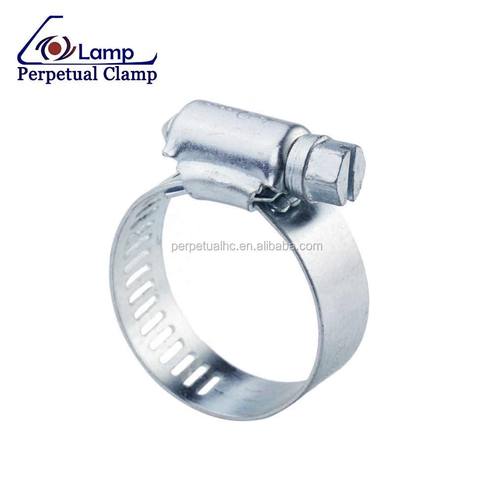 Perforated Band Galvanized Steel American Type Hose Clamp for Pipe