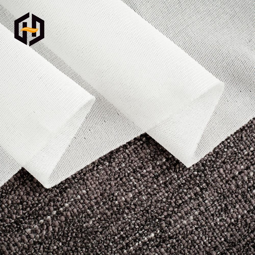 Изготовленный на заказ высококачественный нетканый рулон greige полиэфирная ткань для подкладки одежды