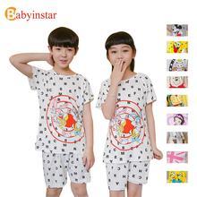 New Design Baby Boys Pajama Sets 2 pcs Cartoon Pattern Sleepwear Sets For Homewear Kids Girls