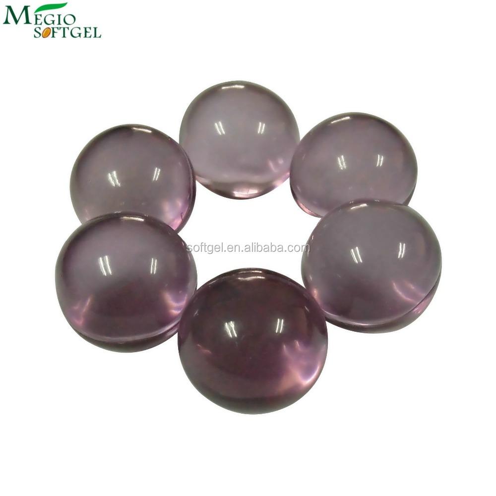 Purple hydrated water bubble bath oil balls