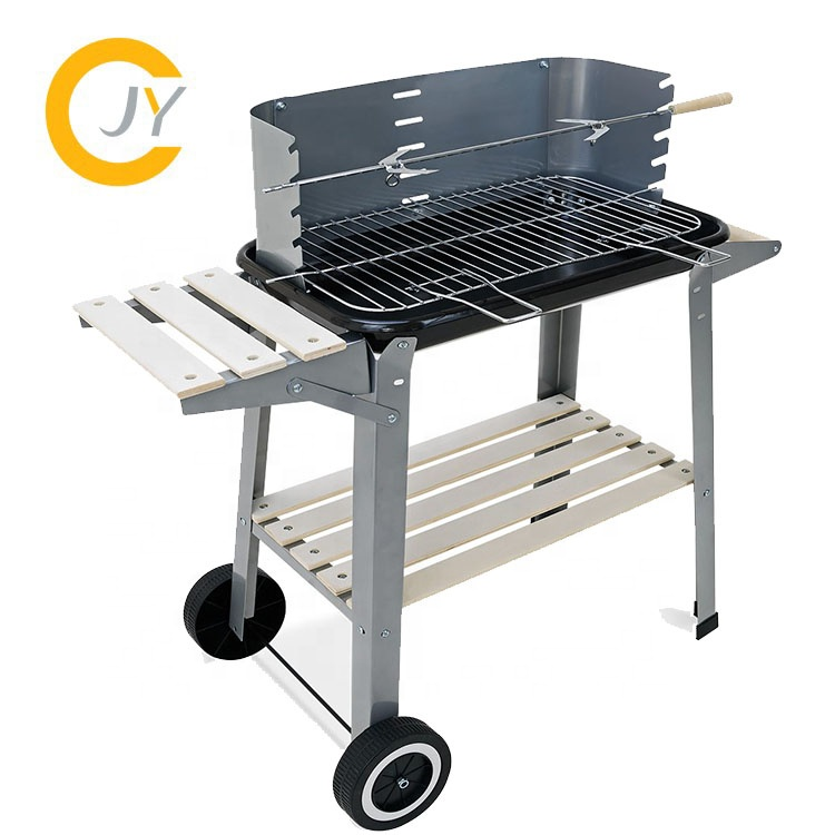 Movable Round Charcoal Grill for Park