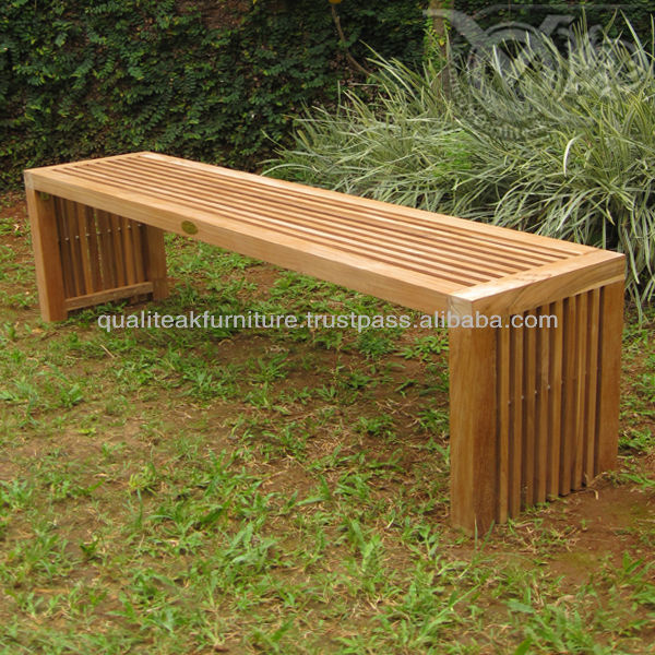 Teak Outdoor Bench With Slats For Home Garden Beach And Pool Buy Teak Outdoor Bench Outdoor Bench With Slats Indonesia Furniture Product On Alibaba Com