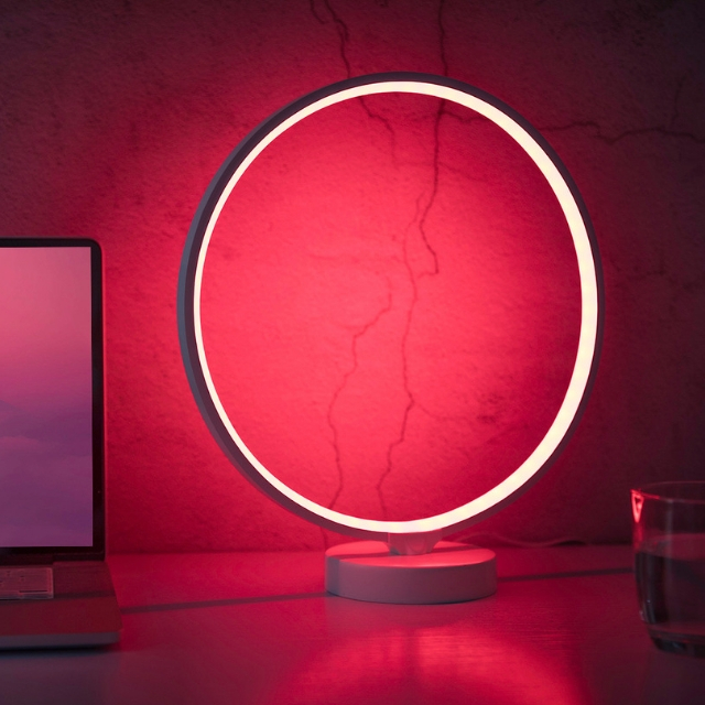 2021 Hot sale original design dimming colorful mood table lamp led RGB lamp for home party