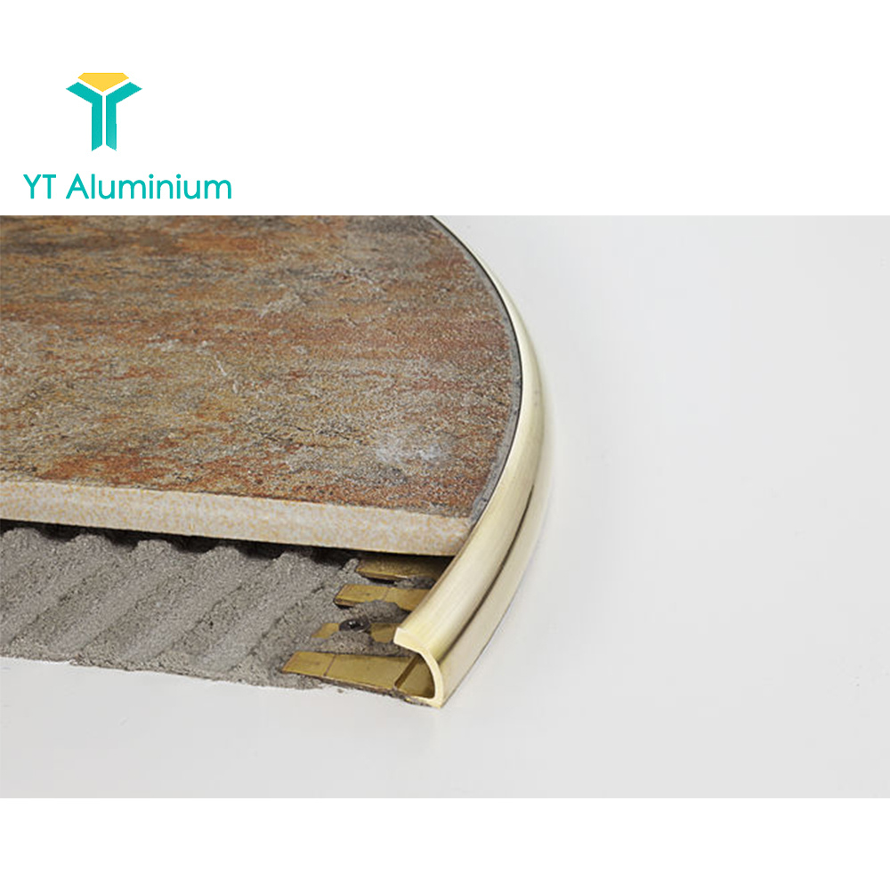 Aluminium Flexible Floor Trim Curved