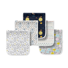 Hot selling triple layers baby burp cloth 5 pack burp cloths for babes