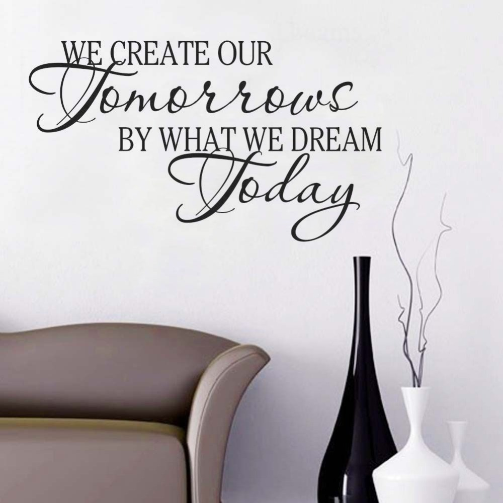 Quality Vinyl Art Wall Sticker Calligraphy Quotes We Create
