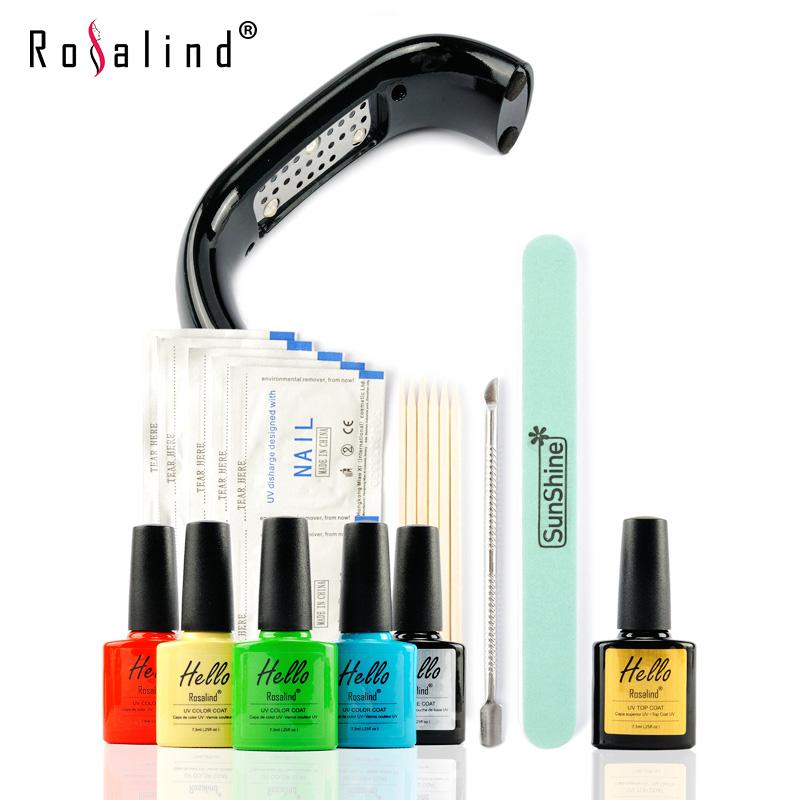 New Arrival Rosalind Hello UV Gel Kit Soak-off Gel Polish Gel Nail Kit Nail Art Tools Sets Kits ...