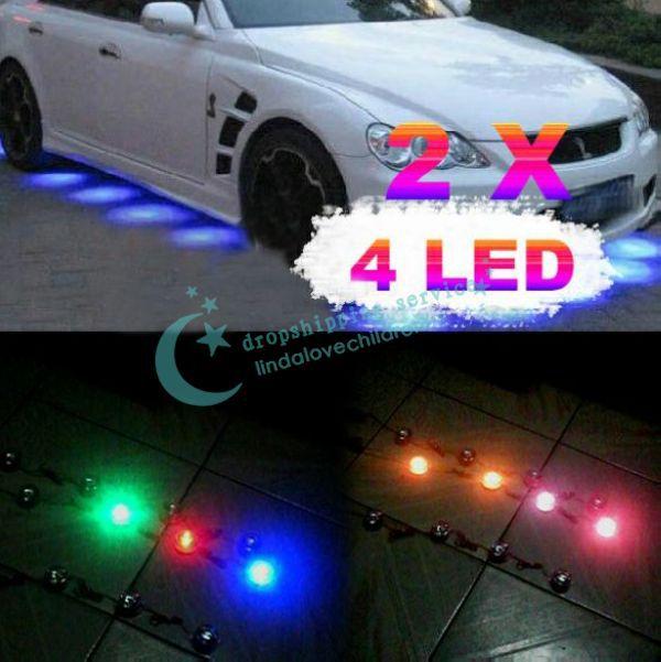 Водонепроницаемый 8 шт. многоцветный из светодиодов украшение минимальный уровень Undercar лёгкие лампы для автомобиль