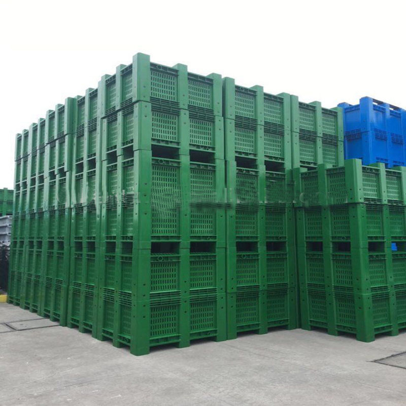 Pallet bin plastic vented pallet box for sale