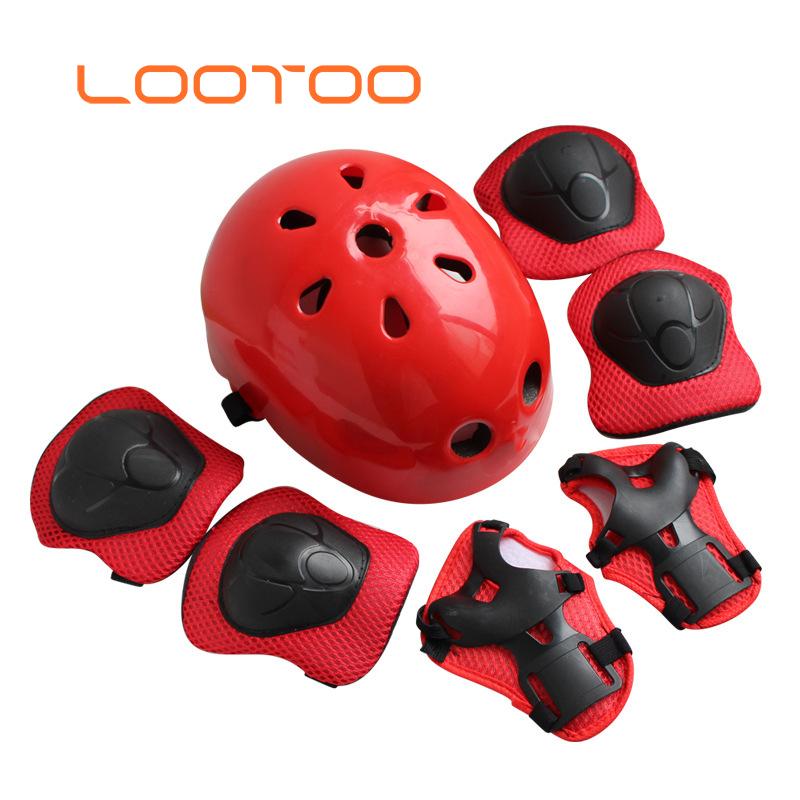7pcs//set Helmet Protector Set Knee Elbow Protective Gear Safety Roller For Kids