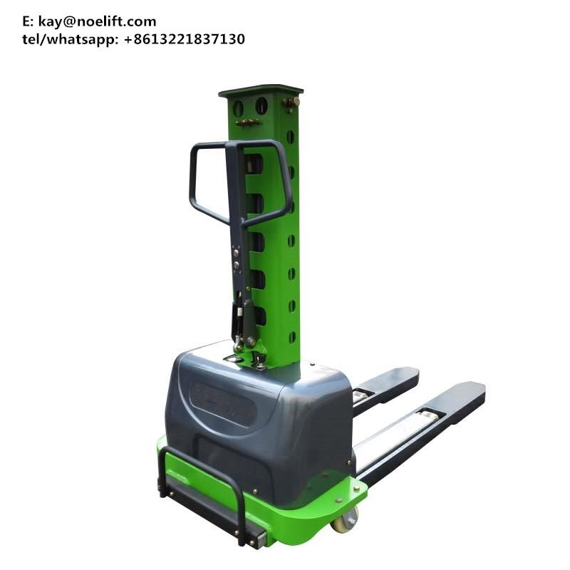 500kg 1m Hydraulic man drive self lift stacekr