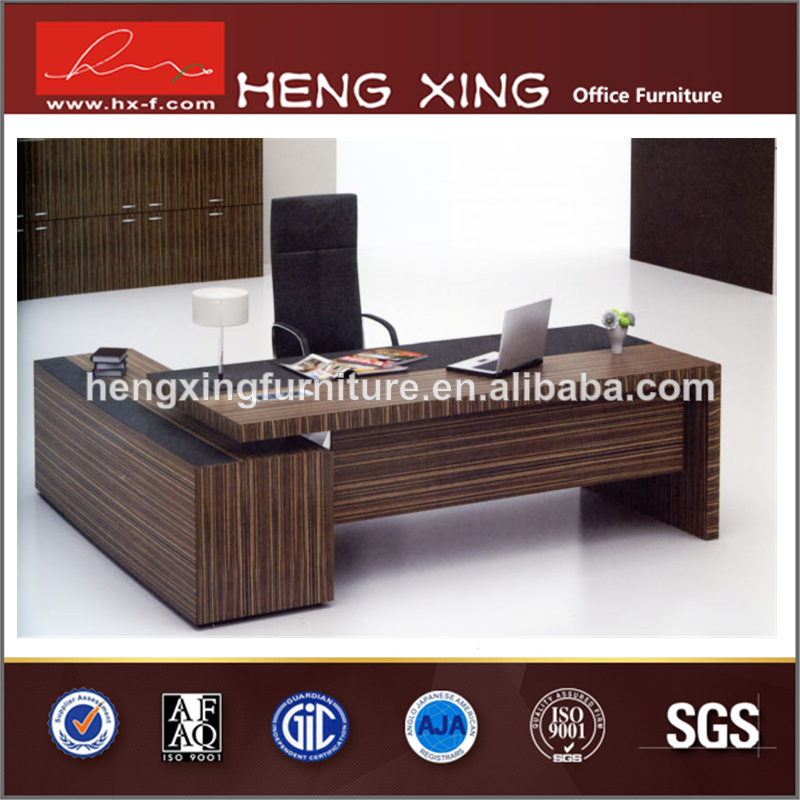 Classical Office Particle Board Veneer Desk Table Boss