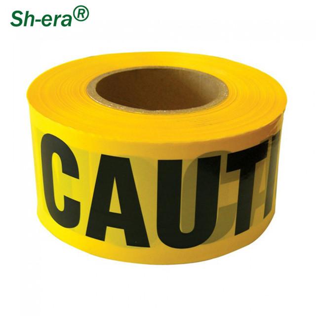 Предупреждающая лента из полиэтилена для ограждения