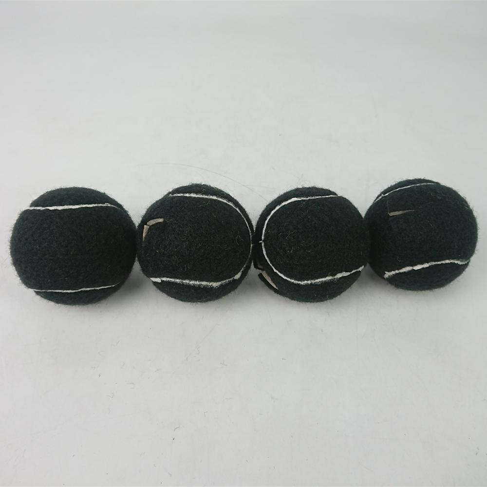 Набор из 4 черных теннисных мячей для стула, теннисные мячи для нарезания, теннисные мячи оптом