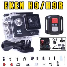 2016 Action camera Ultra HD 4K WiFi 1080P/60fps 2.0 LCD 170 lens Helmet Cam go waterproof camera pro style Original EKEN H9 H9R