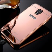 2016 Hot Sale For Samsung Galaxy S5 Case Luxury Mirror Metal Aluminum+Acrylic Hard Back Cover Phone Fundas Bag Accessory Capa