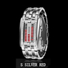 Women Silver Red Led