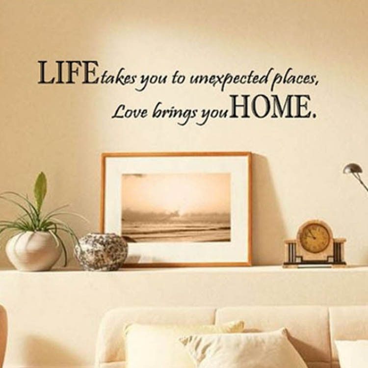 Aliexpress.com : Buy Life Takes You Unexpected Places Love