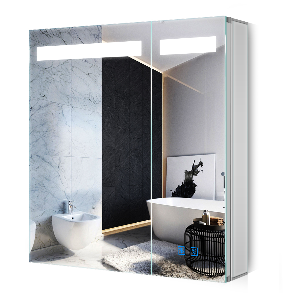 Morden Led Illuminated Bathroom Mirror Cabinet With Shaver Socket Touch Sensor Demister Buy Illuminated Mirror Cabinet Led Mirror Cabinet Led Illuminated Mirror Cabinet Product On Alibaba Com