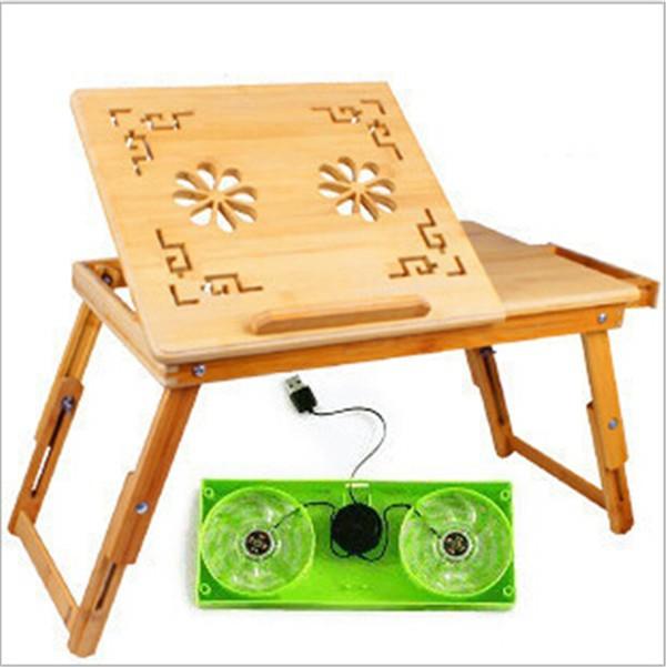 Оптовая продажа Современный бамбуковый складной компьютерный стол
