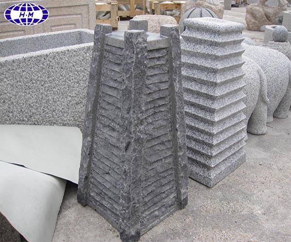 Китай темно-серый гранитный G654 фонтан сада природного камня