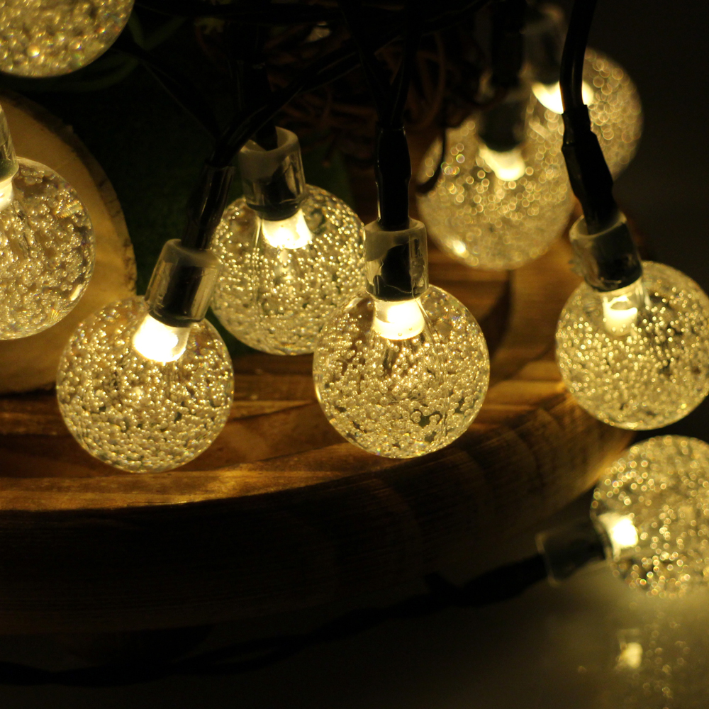 Cheap String Lights Indoor: 30LED 6M Waterproof Decorative Crystal Ball LED String