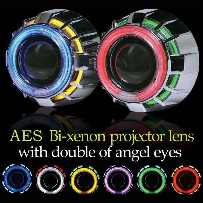 Good Price Aes G1 Aes Double Angel Eye Projector Lens Kit Projector Headlights View Projector Headlights Aes Aes Product Details From Guangzhou Aes Car Parts Co Ltd On Alibaba Com