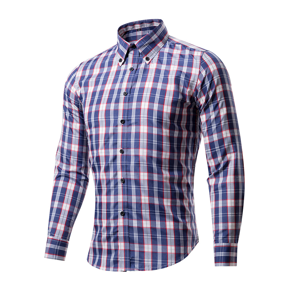 Brand Long Sleeve Men Shirts 2017 New Arrival Plaid Slim ...