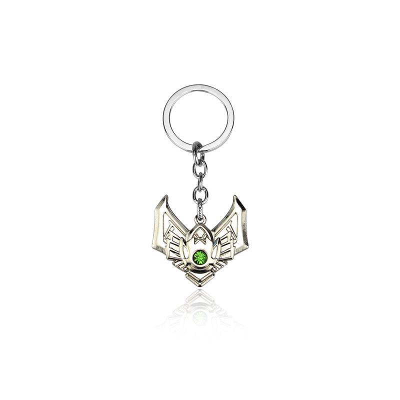 Game LOL Keychain Legends Key Chain hero League Rank Key Ring