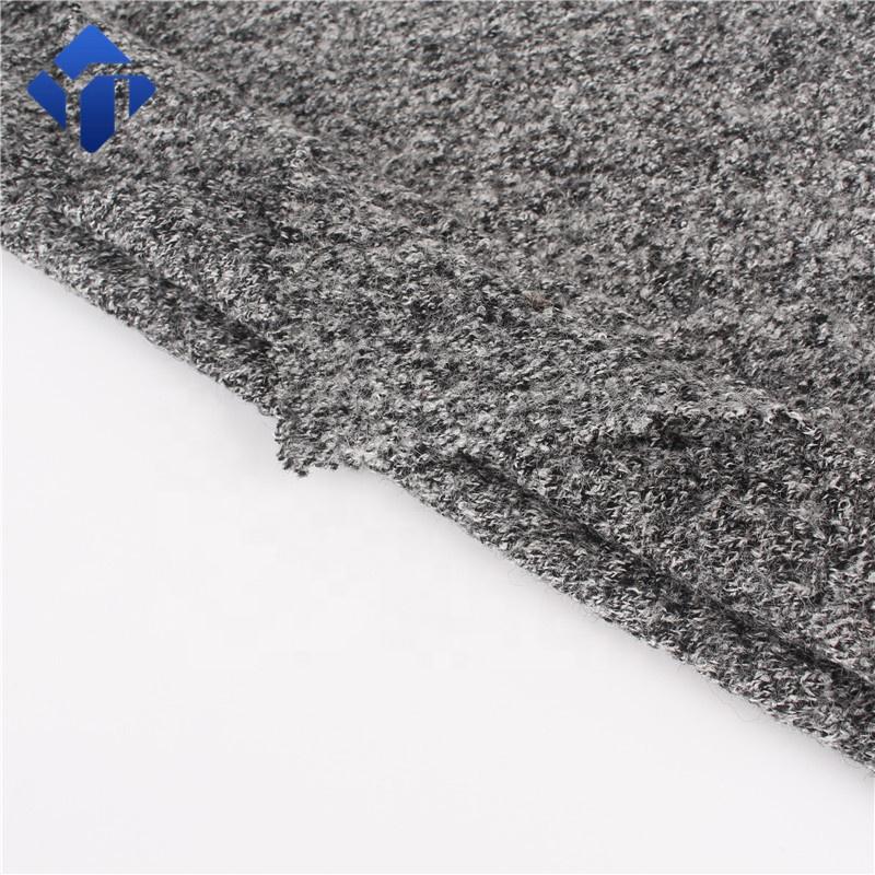Горячая Распродажа шерстяная вискозная смесь кипяченая трикотажная шерстяная ткань для пальто