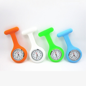 Hot! Cheap Price Digital Silicone Nurses Pin Watch